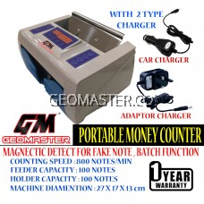 GEOMASTER PORTABLE MONEY COUNTER , NOTE COUNTER , BILL COUNTER