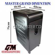 GEOMASTER MASTER GRAND SUPER HEAVY DUTY  PAPER SHREDDER - LARGE SHREDDER