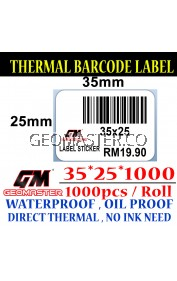 35 x 25 mm Barcode Sticker Thermal Price Label Product Label Sticker Paper Stock Ready 35 x 25 mm