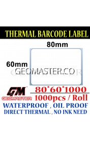 80 x 60 mm Barcode Sticker Thermal Price Label Product Label Sticker Paper Stock Ready 80 x 60 mm