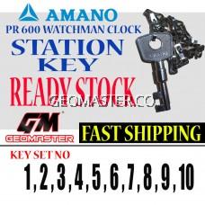 AMANO WATCHMAN CLOCK STATION KEY NO 16 - AMANO KEY