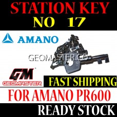 AMANO WATCHMAN CLOCK STATION KEY NO 17 - AMANO KEY