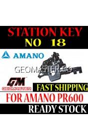 AMANO WATCHMAN CLOCK STATION KEY NO 18 - AMANO KEY