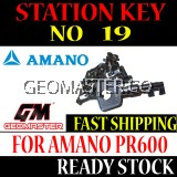 AMANO WATCHMAN CLOCK STATION KEY NO 19 - AMANO KEY