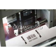 "GM Barcode Wax Ribbon 110mm x 300M for Thermal Transfer Printer Label Tag Print, 1"" Full Inch Core Inked Side Face Out"