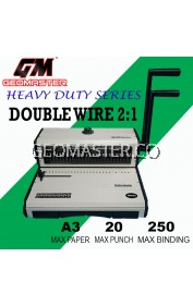GEOMASTER 2 : 1 BINDING MACHINE - DOUBLE WIRE BINDING - HEAVY DUTY SERIES