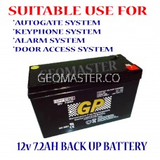 GPower 12V 7.2AH Rechargeable Seal Lead Acid Autogate / ALARM UPS Backup Battery