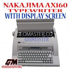 NAKAJIMA AX-160 ELECTRONIC TYPEWRITER WITH  DISPLAY SCREEN