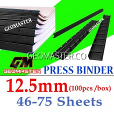 12.5mm Press Binder / Binding Strip / Lock Binder / Press Binding Comb / Binder Strip Black