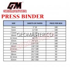 22.5mm Press Binder / Binding Strip / Lock Binder / Press Binding Comb / Binder Strip Black