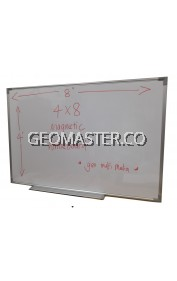 GEOMASTER Magnetic White Board (122cm x 244cm)- 4 x 8 ruler