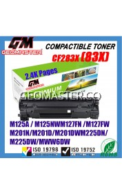 Compatible Laser Toner Hp CF283X / 83X / CF283A / 83A High Yield Compatible Toner Cartridge (2.4K pages) For LaserJet Pro HP LaserJet Pro M202n / M201dw / M201d / MFP M226dn / M226dw / M225dn / M225dn Printer Toner