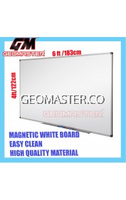 HIGH QUALITY Magnetic White Board WHITEBOARD (122cm x 186cm)- 4 x 6 ruler