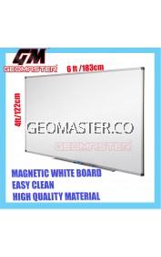 HIGH QUALITY Magnetic White Board WHITEBOARD (122cm x 186cm)- 4 x 6 ruler