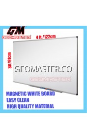 HIGH QUALITY Magnetic White Board WHITEBOARD (91cm x 122cm)- 3 x 4 ruler
