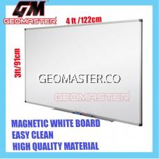 HIGH QUALITY Magnetic White Board WHITEBOARD (91cm x 122cm)- 3 x 4 ruler