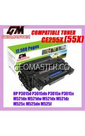 HP CE255X / CE255 / 55X / CE255A / 55A High Yield Compatible Toner For P3015d P3015dn P3015n P3015x M521dn M521dw M521dx M521dz M525c M525dn M525f / LBP-6750dn LBP-6780x Printer Toner