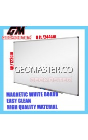 HIGH QUALITY Magnetic White Board WHITEBOARD (122cm x 244cm)- 4 x 8 ruler
