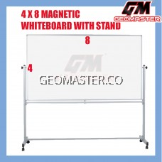 4 X 8 MAGNECTIC WITHEBOARD WITH STAND (122CM X 244CM)