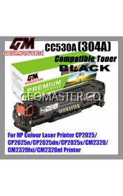 Compatible Colour Laser Toner HP 304A / CC530A Black High Quality Compatible Toner Cartridge For HP Colour Laser Printer CP2025 / CP2025n / CP2025dn / CP2025x / CM2320 / CM2320fxi / CM2320nf Printer