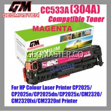 Colour Laser Toner HP Compatible 304A / CC533A Magenta High Quality Compatible Toner Cartridge For HP Colour Laser Printer CP2025 / CP2025n / CP2025dn / CP2025x / CM2320 / CM2320fxi / CM2320nf
