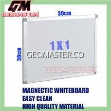 HIGH QUALITY Magnetic White Board WHITEBOARD (30cm x 30 cm)-  1 x 1 ruler