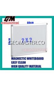HIGH QUALITY Magnetic White Board WHITEBOARD (60cm x 60 cm)-  2 x 2 ruler