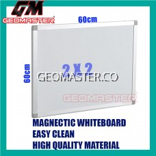 HIGH QUALITY Magnetic White Board WHITEBOARD (60cm x 60 cm)-  2 x 2 ruler