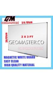 HIGH QUALITY Magnetic White Board WHITEBOARD (60cm x 90 cm)-  2 x 3 ruler