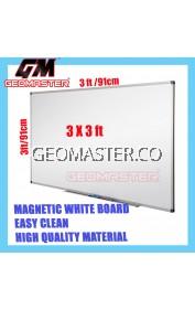 HIGH QUALITY Magnetic White Board WHITEBOARD (90cm x 90 cm)-  3 x 3 ruler