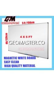 HIGH QUALITY Magnetic White Board WHITEBOARD (120cm x 150 cm)-  4x5 ruler