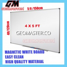 HIGH QUALITY Magnetic White Board WHITEBOARD (120cm x 150 cm)-  4x5 ruler