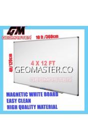 HIGH QUALITY Magnetic White Board WHITEBOARD (122cm x 360cm)- 4 x 12 ruler