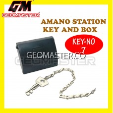 AMANO PR 600 WATCHMAN CLOCK STATION KEY AND BOX (NO7)