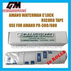 AMANO PR600 WATCHMAN CLOCK PAPER ROLLS - 10ROLLS