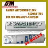 AMANO PR600 WATCHMAN CLOCK PAPER ROLLS - 50ROLLS