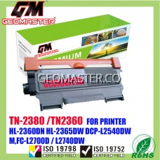 Brother TN-2380 / TN-2360 / TN2380 / TN2360 Compatible Laser Toner Cartridge For Brother HL-L2360DN / L2360 / HL-L2365DW / L2365 / DCP-L2540DW / L2540 / MFC-L2700D / MFC-L2700DW / L2700 / MFC-L2740DW / L2740 Printer