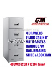 4 Drawers Metal Filing Cabinet With Lock