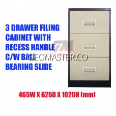 3 Drawers Metal Filing Cabinet With Lock