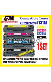 Full Set Compatible Laser Toner HP 131A / CF210A + CF211A + CF212A + CF213A High Quality Toner Cartridge (1 Set 4 Unit) For HP LaserJet Pro 200 Color M251n / M251nw / MFP M276n / MFP M276nw Printer