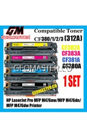 Colour Laser Toner HP Compatible 312A / CF380A + CF381A + CF382A + CF383A High Quality Compatible Tober Cartridge (Full Set 4 Units) For HP LaserJet Pro MFP M476nw / MFP M476dn / MFP M476dw Printer
