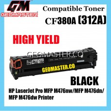 Compatible Colour Laser Toner HP 312A / CF380A Black Compatible Toner Cartridge For HP LaserJet Pro MFP M476nw / MFP M476dn / MFP M476dw Printer