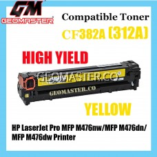 Colour Laser Toner HP Compatible 312A / CF382A Yellow Compatible Toner Cartridge For HP LaserJet Pro MFP M476nw / MFP M476dn / MFP M476dw Printer