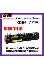 Compatible Colour Laser Toner HP CE320A / 128A Black High Quality Compatible Toner Cartridge For HP LaserJet Pro CP1525n / CP1525nw / CM1415fn / CM1415fnw Printer Toner