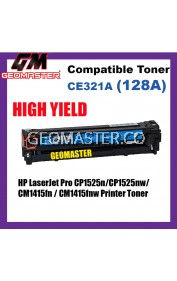 Compatible Colour Laser Toner HP CE321A / 128A Cyan High Quality Compatible Toner Cartridge For HP LaserJet Pro CP1525n / CP1525nw / CM1415fn / CM1415fnw Printer Toner