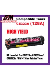 Compatible Colour Laser Toner HP CE323A / 128A Magenta High Quality Compatible Toner Cartridge For HP LaserJet Pro CP1525n / CP1525nw / CM1415fn / CM1415fnw Printer Toner