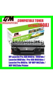 HP CF280A / 80A / CF280A / CF280 Compatible Laser Toner Catridge For HP LaserJet Pro 400 M401d / M401dn / LaserJet M401dw / Pro 400 M401dne / LaserJet Pro M401n / HP MFP M425dn / MFP M425dw Printer
