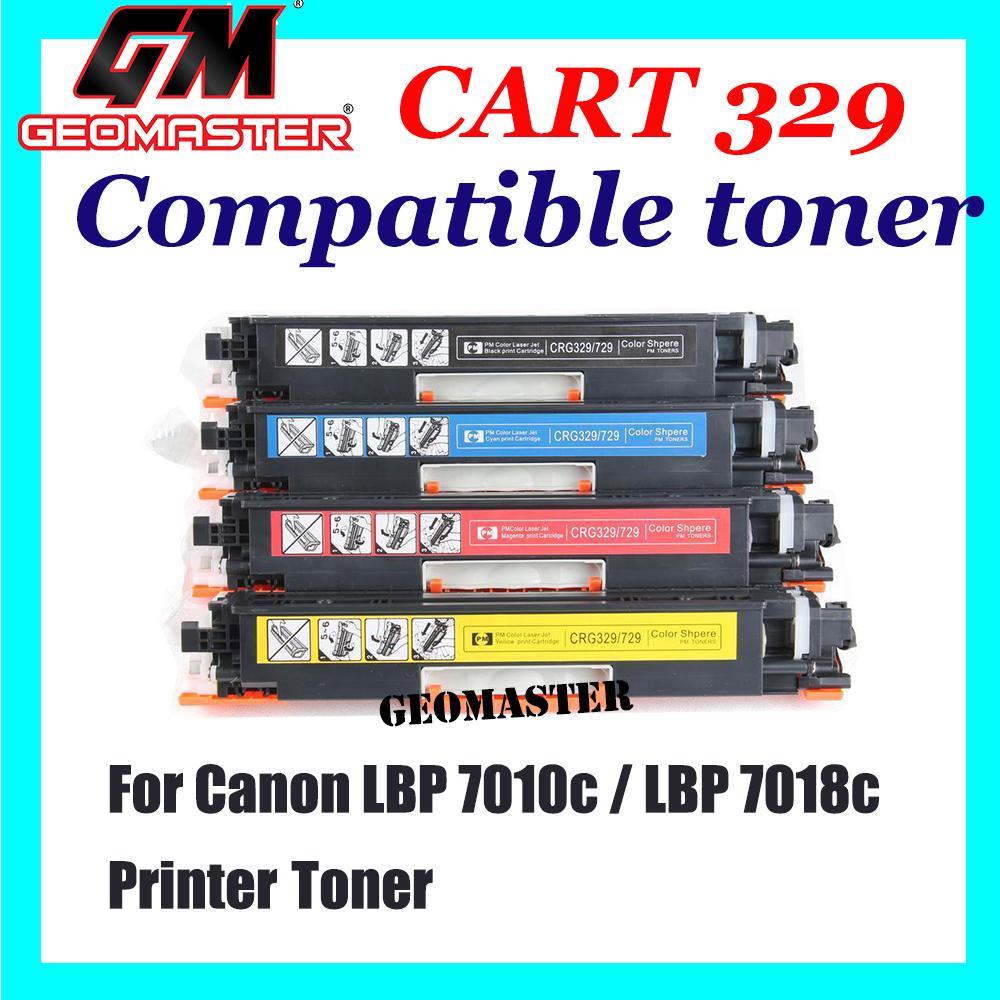 Canon 329 / Cartridge 329 Black + Cyan + Magenta + Yellow High Quality Compatible Toner Cartridge (1 Set 4 Unit) For Canon LBP 7010c / LBP 7018c Printer Toner