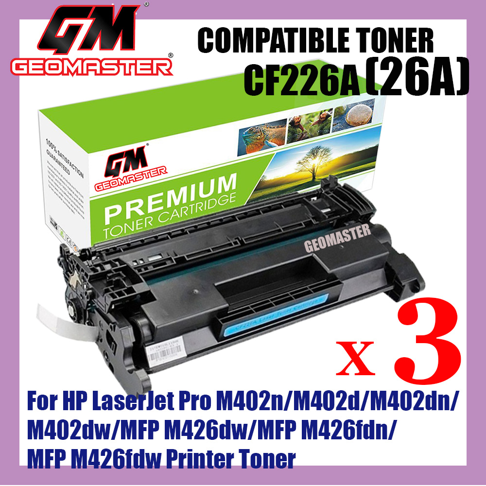 10PK Toner For HP CF226A 26A LaserJet Pro M402d M402dn M402n MFP M426fdn M426fdw