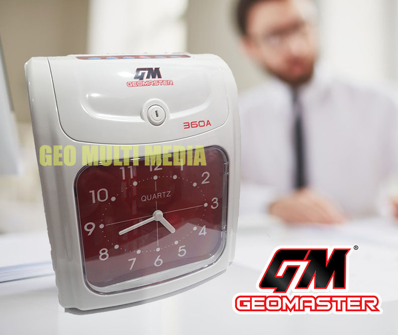 GEOMASTER 360A PUNCH CARD MACHINE TIME RECORDER- ANALOG II